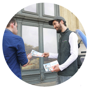 Publicité, street-marketing, échantillonnage
